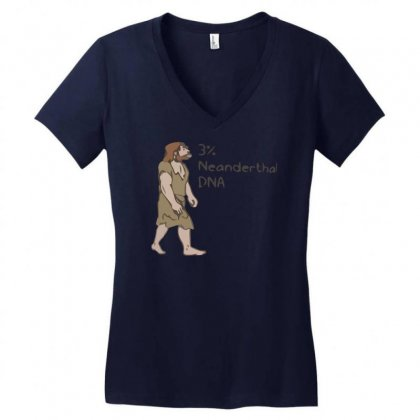 Neanderthal Dna Women's V-neck T-shirt Designed By Gematees