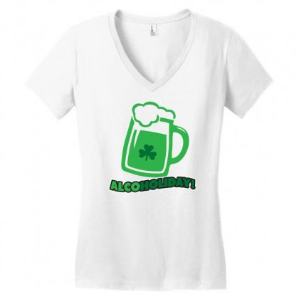 Alcoholiday Women's V-neck T-shirt Designed By Gematees