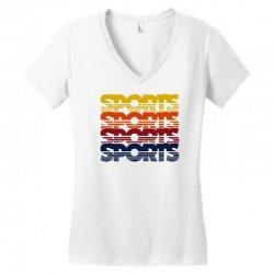 vintage sports Women's V-Neck T-Shirt   Artistshot
