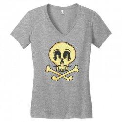 funny skull mustache Women's V-Neck T-Shirt | Artistshot