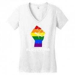Love Wins 12th 2016 - Orlando Strong Women's V-Neck T-Shirt   Artistshot