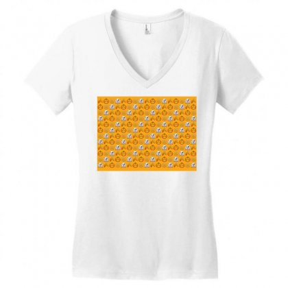 Halloween Women's V-neck T-shirt Designed By Killakam