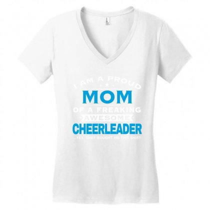 Cheerleader Mom - Mother's Day - Mother's Gift Women's V-neck T-shirt Designed By Davidph