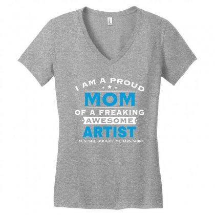 Artist Mom - Mothers Day - Mother's Gift Women's V-neck T-shirt Designed By Davidph