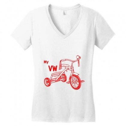 My Vw Bike Women's V-neck T-shirt Designed By Rardesign