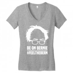 Be On Bernie Women's V-Neck T-Shirt | Artistshot
