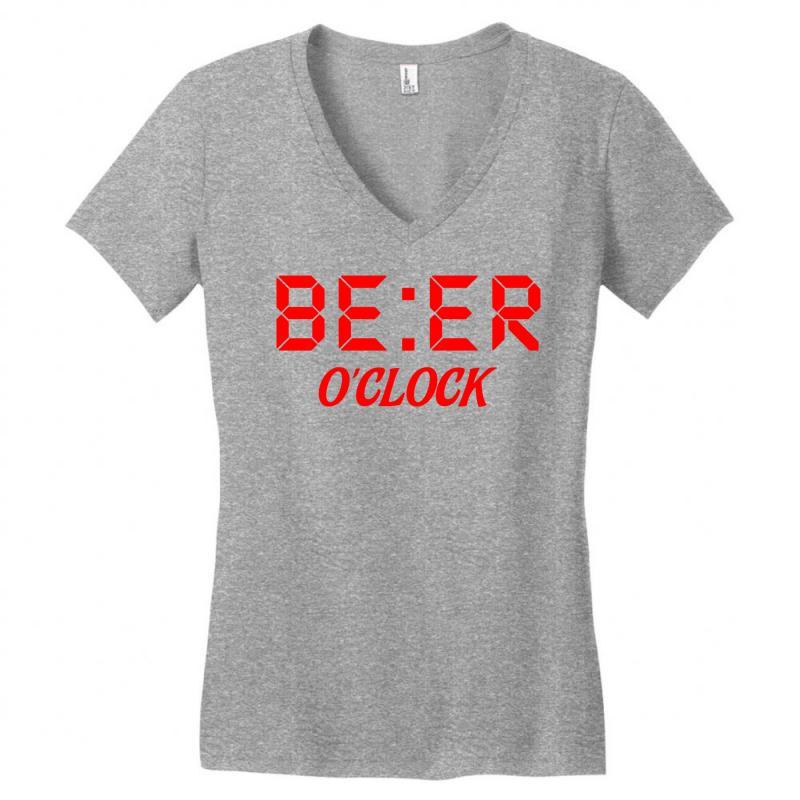 Beer O'clock Women's V-neck T-shirt | Artistshot