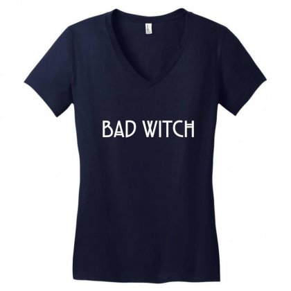 Bad Witch Women's V-neck T-shirt Designed By Tshiart
