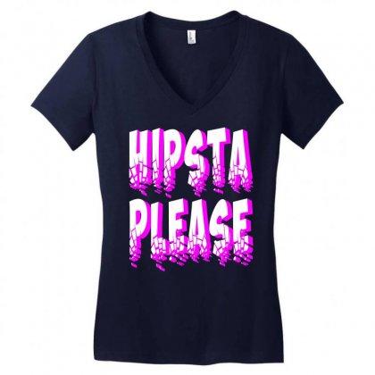 Hipsta-please-kamo Women's V-neck T-shirt Designed By Killakam