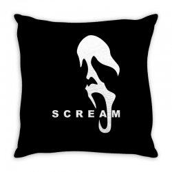 scream 1 slasher horror Throw Pillow   Artistshot