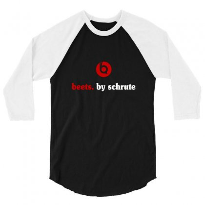 Beets By Schrute 3/4 Sleeve Shirt Designed By Mdk Art