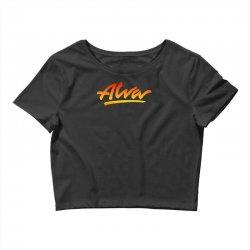 new alva skateboard skate decks logo Crop Top | Artistshot
