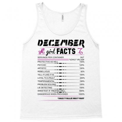 December Girl Facts Capricorn Tank Top Designed By Sabriacar