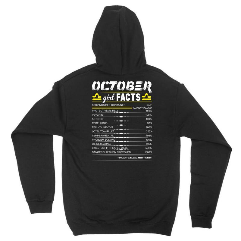 October Girl Facts Libra Unisex Hoodie  By Artistshot
