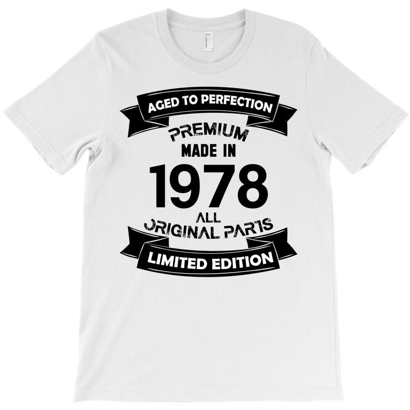 f2a2d84245a Custom Premium Vintage 1978 T-shirt By Kasemdesign - Artistshot