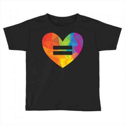 Rainbow Equality Heart Toddler T-shirt Designed By Tshiart