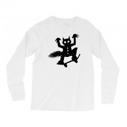 wild thing on a skateboard Long Sleeve Shirts | Artistshot