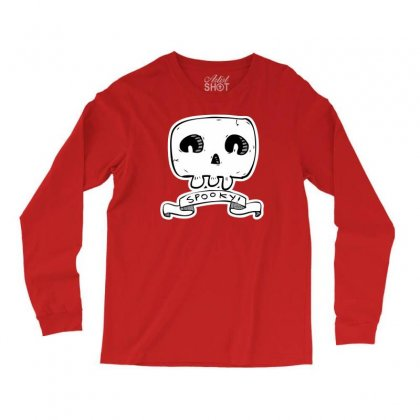 Spooky Skull Long Sleeve Shirts Designed By Specstore