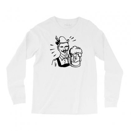 Retro Guy With Beer Long Sleeve Shirts Designed By Specstore