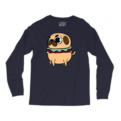 Pug Burger Long Sleeve Shirts Designed By Specstore