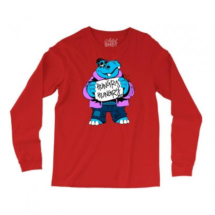 Hungry Hippo Long Sleeve Shirts Designed By Specstore