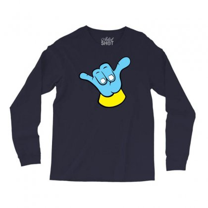Hang Loose Big Blue Long Sleeve Shirts Designed By Specstore