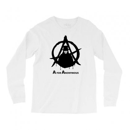 A For Anonymous Long Sleeve Shirts Designed By Specstore