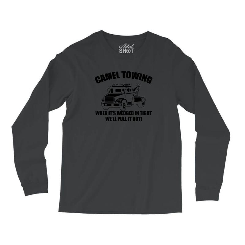 44aa8a00a camel towing mens t shirt tee funny tshirt tow service toe college humor  cool Long Sleeve Shirts