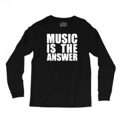 music is the answer printed Long Sleeve Shirts | Artistshot