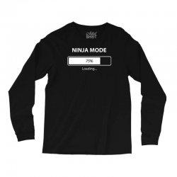 ninja mode loading Long Sleeve Shirts   Artistshot
