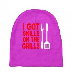 got skills on the grills apron Baby Beanies | Artistshot