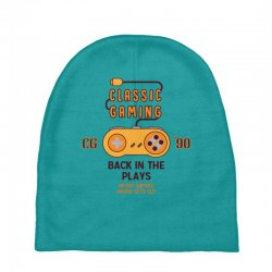 Classic Gaming - Back In The Plays Baby Beanies   Artistshot