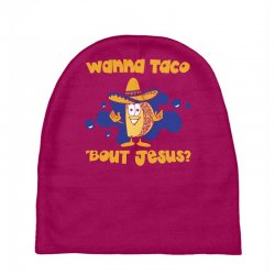 Custom Taco Mexican Wanna Taco  bout Jesus Funny Accessory Pouches ... 8415fe2d566c