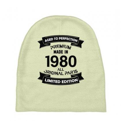 ab446984620e5 Custom Premium Vintage 1980 Baby Beanies By Kasemdesign - Artistshot