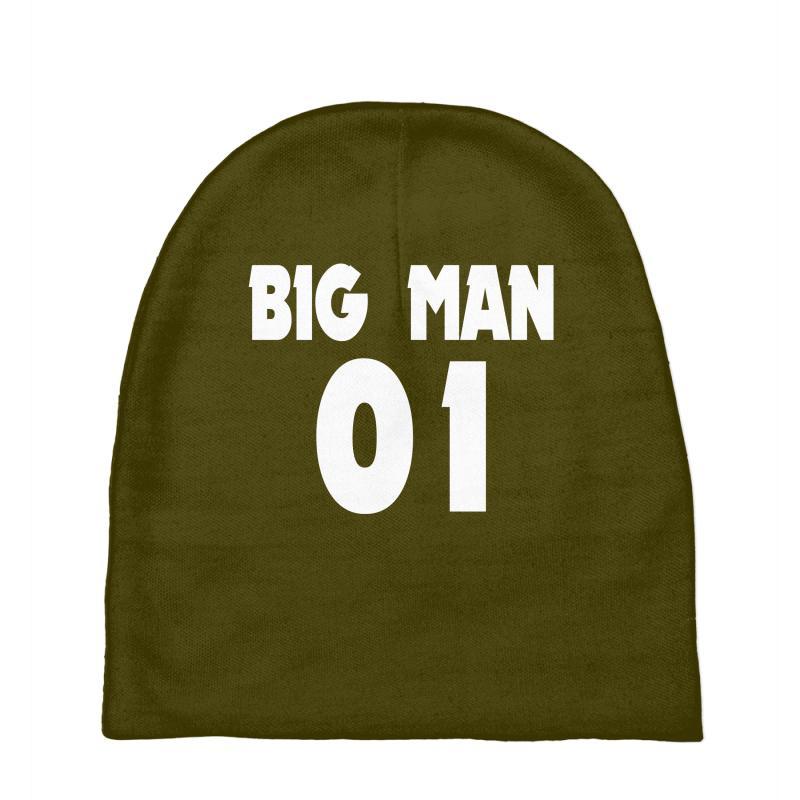 173f45d7635be Custom Big Man Little Man Father Son Matching1 Baby Beanies By Mdk ...