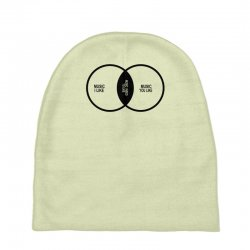 music elitism venn diagram musician indie snob rock geek shirt t shirt Baby Beanies | Artistshot