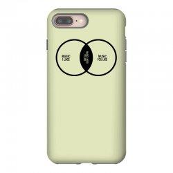 music elitism venn diagram musician indie snob rock geek shirt t shirt iPhone 8 Plus Case | Artistshot