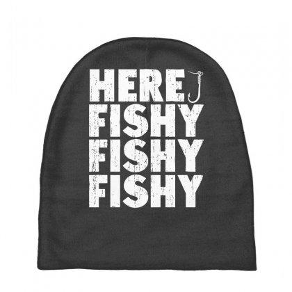 dfb20342 Custom Here Fishy Fishy Fishy Baby Beanies By Secreet - Artistshot