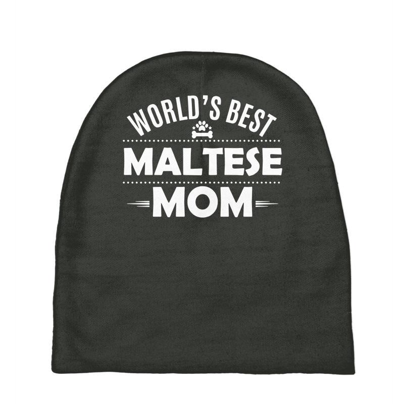 Custom World s Best Maltese Mom Baby Beanies By Secreet - Artistshot a90ad9c79ed