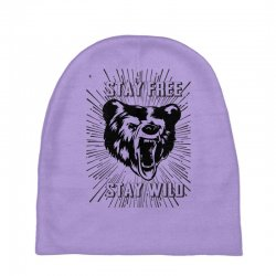 Stay Free Stay Wild Baby Beanies | Artistshot