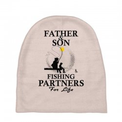 Custom Father And Son Fishing Partners For Life Baby Beanies By ... dfffaa1044a