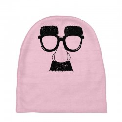 comedy fancy dress moustache funny Baby Beanies | Artistshot