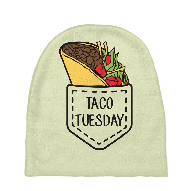 f2a75d4549 Custom Taco Mexican Taco Tuesdays Pocket Funny Baby Beanies By Mdk ...