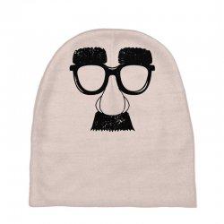 comedy fancy dress moustache funny Baby Beanies | Artistshot
