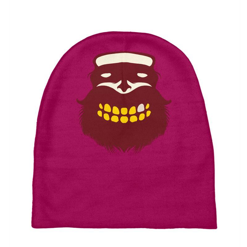 Custom Beard Logo Special Movember Edition Baby Beanies By Thesamsat ... dace6f9c9433