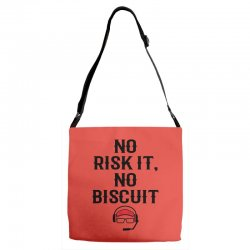 no risk it, no biscuit Adjustable Strap Totes | Artistshot