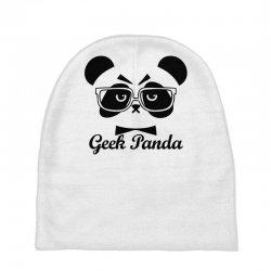 Geek Panda Baby Beanies | Artistshot