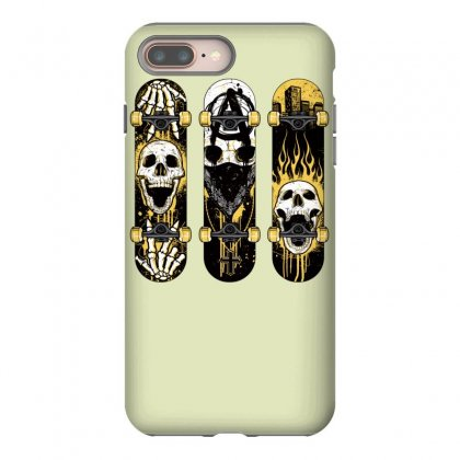 Burned Skate Skull Iphone 8 Plus Case Designed By Specstore