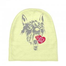 screaming wolf love you Baby Beanies | Artistshot