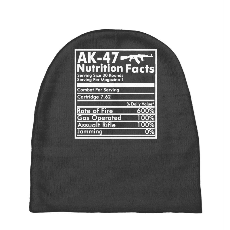 63ba852b1 Ak 47 Russian Riffle Funny Nutrition Facts Baby Beanies. By Artistshot